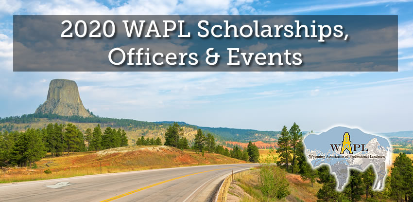 2020 WAPL Scholarships, Officers & Events