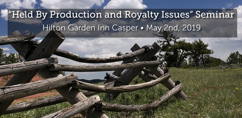WAPL Held By Production and Royalty Issues Seminar